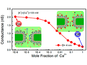 Charge Inversion and Calcium Gating in Mixtures of Ions in Nanopores